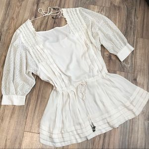 Free people Drop Waist Lace Crochet Ivory Dress